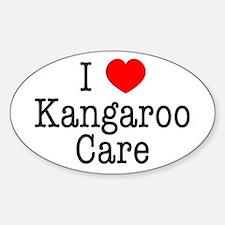 I Love Kangaroo Care Decal