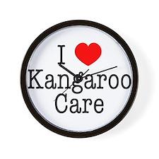 I Love Kangaroo Care Wall Clock