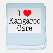 I Love Kangaroo Care baby blanket