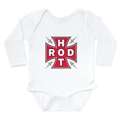 HOT ROD CROSS Long Sleeve Infant Bodysuit
