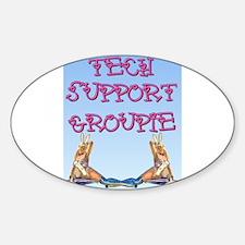 Tech Groupie Oval Decal