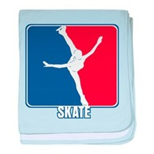 Major League Figure Skating baby blanket