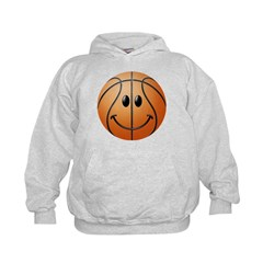 Basketball Smiley Face Kids Hoodie