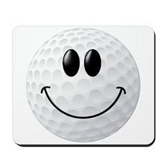 Golf Ball Smiley Face Mousepad