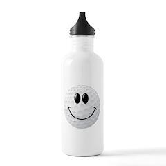 Golf Ball Smiley Face Water Bottle