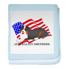 Australian Shepherd Dog USA baby blanket