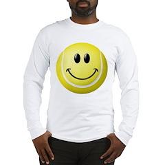 Tennis Ball Smiley Face Long Sleeve T-Shirt