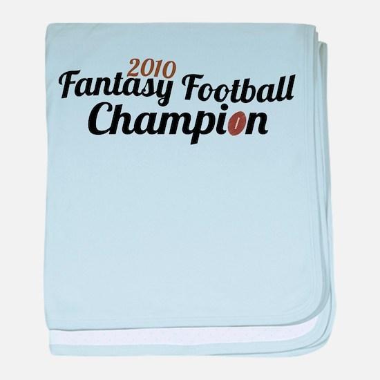 2010 Fantasy Football Champion baby blanket
