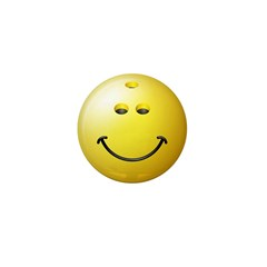 Bowling Ball Smiley Face Mini Button (100 pack)