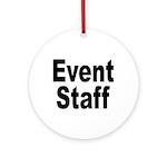 Event Staff Ornament (Round)