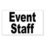 Event Staff Rectangle Sticker