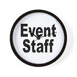 Event Staff Wall Clock