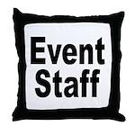 Event Staff Throw Pillow