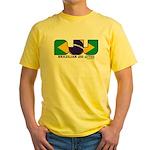 Brazilian flag colours BJJ Yellow T-Shirt