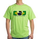 Brazilian flag colours BJJ Green T-Shirt