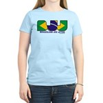 Brazilian flag colours BJJ Women's Light T-Shirt