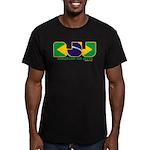 Brazilian flag colours BJJ Men's Fitted T-Shirt (d