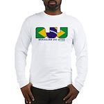 Brazilian flag colours BJJ Long Sleeve T-Shirt