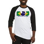 Brazilian flag colours BJJ Baseball Jersey