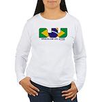 Brazilian flag colours BJJ Women's Long Sleeve T-S