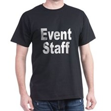 Event Staff (Front) Black T-Shirt