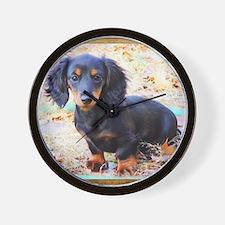 Puppy Love Doxie Wall Clock