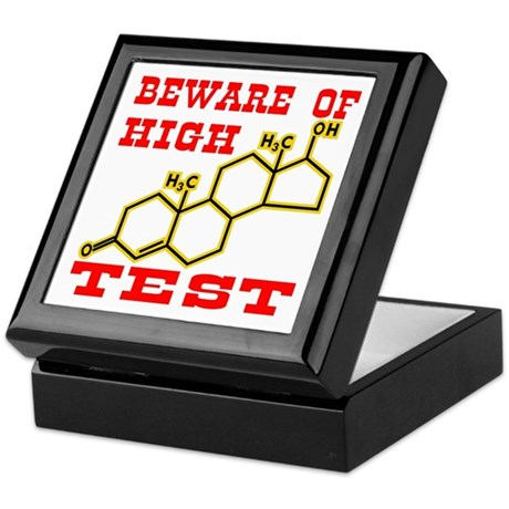 Beware Of High Test Molecule Keepsake Box