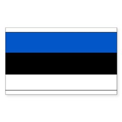 Estonia Estonian Blank Flag Rectangle Decal