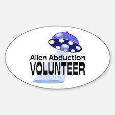 Alien Abductin Volunteer Decal