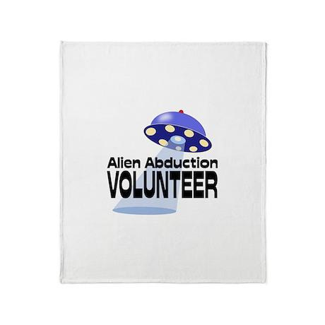 Alien Abductin Volunteer Throw Blanket