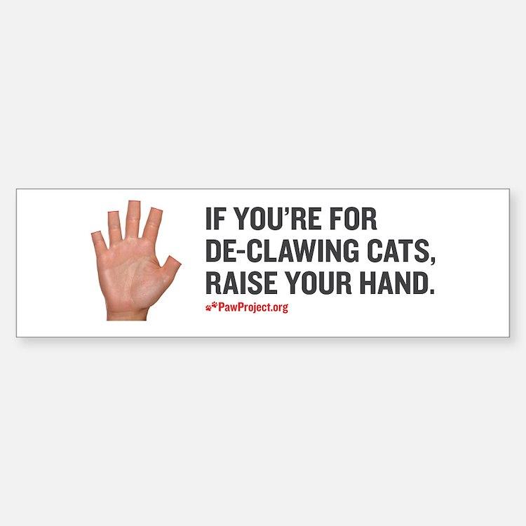 Paw Project Anti Declaw Sticker (Bumper)