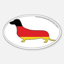 Germany Flag Dachshund Decal