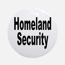 Homeland Security Ornament (Round)