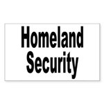 Homeland Security Rectangle Sticker