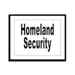 Homeland Security Framed Panel Print