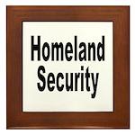Homeland Security Framed Tile