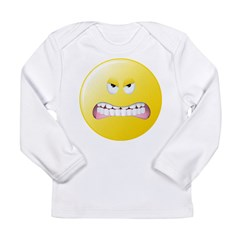 Angry Smiley Face Long Sleeve Infant T-Shirt