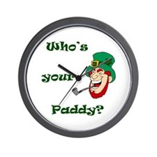 Who's Your Paddy? Leprechaun Wall Clock
