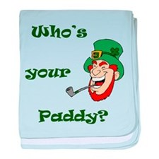 Who's Your Paddy? Leprechaun baby blanket