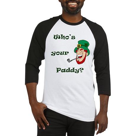 Who's Your Paddy? Leprechaun Baseball Jersey