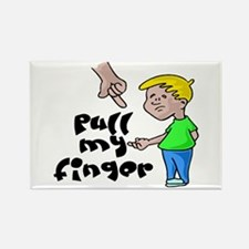 Pull My Finger Rectangle Magnet