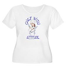 Lady Chef Plus Size Scoop Neck T-Shirt