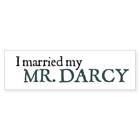Jane Austen Married Darcy Bumper Sticker