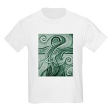 Singing to Van Gogh in Green T-Shirt