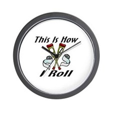 How I Roll Injured Wall Clock