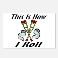 How I Roll Injured Postcards (Package of 8)