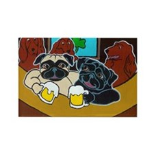 St. Puggy's Day Rectangle Magnet (10 pack)