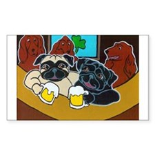 St. Puggy's Day Rectangle Decal