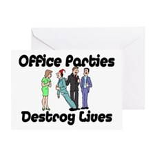 Office Parties Greeting Card