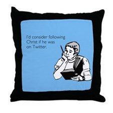 Christ Twitter Throw Pillow
